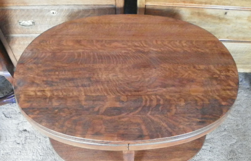 Oval Solid Quartersawn Oak Parlor Table Center Table