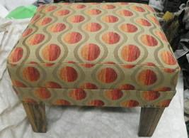 Retro Oak Footstool Stool - $190.68