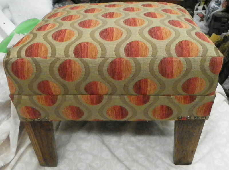 Retro Oak Footstool Stool