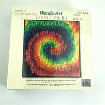 "Sealed WonderArt Latch Hook Kit 8"" x 8"" Twirl #4904 New & Sealed - $19.98"