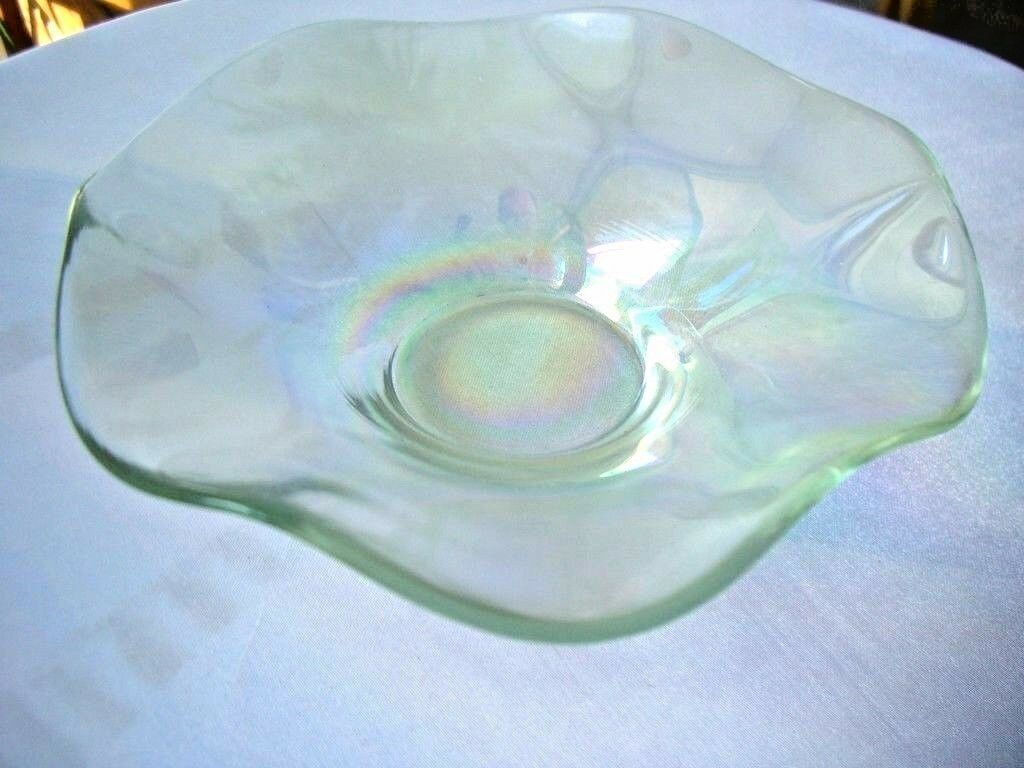 Primary image for Duncan & Miller c1930's Small Clear Iridescent Whimsy Bowl 6""