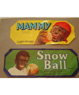 Two Fruit Box Orange Labels Snow Ball and Mammy... - $23.00