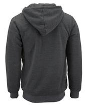 Men's Texas Embroidered Sherpa Lined Warm Zip Up Fleece Hoodie Sweater Jacket image 3