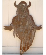Huge Western Rust Sheet Metal Art Indian Native... - $30.00