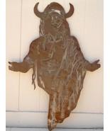 Huge Western Rust Sheet Metal Art Indian Native American 3 - $30.00