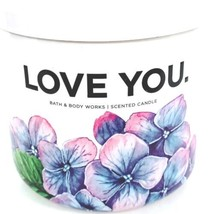 Bath & Body Works Love You 3 Wick Candle White Jar with White Lid - $28.22