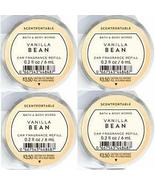 Bath and Body Works 4 Pack Vanilla Bean Scentportable Fragrance Refill 0... - $25.73