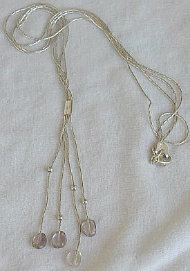 Light Purple glass necklace