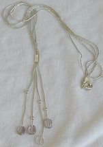 Light Purple glass necklace - $42.00