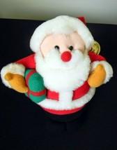 Jingle Plush Avon Santa Claus Musical Jolly St. Nick plays Rudolph Reindeer - $9.99