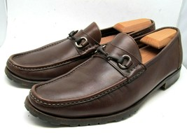 Santoni Men's Brown Leather Bit loafers US 9.5 D Made in Italy. - $57.23