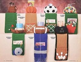 Annie's Attic COASTER CADDIES Booklet, Football, Golf, Soccer, Basketbal... - $15.00