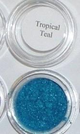 Mineral eye shadow liner blue teal