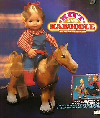 "Primary image for Rare 1984 14"" KITT and KABOODLE DOLL & ACTION PONY Ideal NRFB  no Batteries"