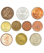 SET OF 10 COINS FROM 10 DIFFERENT COUNTRIES COINS LOT - £2.73 GBP
