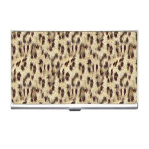 LEOPARD Print Business Card Holder Case NEW! Blue Skies Plus LLC