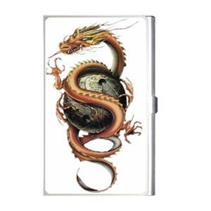 CHINESE DRAGON Design Business Card Holder Case NEW! Blue Skies Plus LLC
