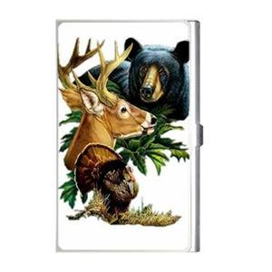 HUNTING WILDLIFE Designed Business Card Case Holder NEW Blue Skies Plus LLC