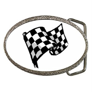 New Belt Buckle Checkered Racing Flag Car Race Blue Skies Plus LLC