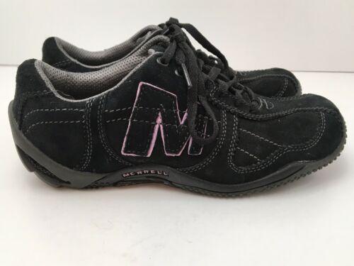 Merrell Womens US 6.5 Shoes Circuit Grid Comfort Black Suede Leather EU37 EUC image 12