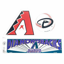 Arizona Diamond Backs Classic A Logo MLB Baseball Die-Cut Magnets and Bu... - $4.99