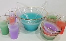 Vintage West Virginal Frosted Salad/Tea Glasses/Bowl 14pc Set Collection... - $49.00
