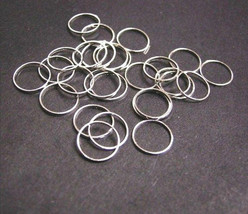 24pc bright silver 10mm smooth round ring-2239 - $1.00