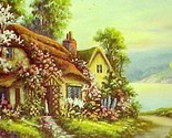 69321a spring cottage blossoms calendar art print lithograph 1940s thumb155 crop