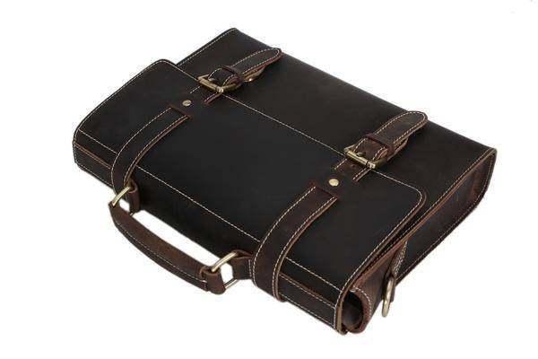 Sale, Vintage Leather Briefcase, Messenger Bag, Satchel Bag, Crossbody Bag image 4