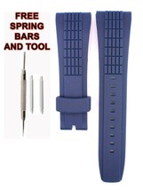 Compatible Seiko Velatura SPC075 26mm Blue Diver Rubber Watch Strap SKO102 - $28.70
