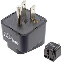 Miami CarryOn USA Travel Adapter, Universal Power Travel Plug Adapter, U... - $5.99