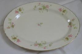Vintage Homer Laughlin Pink Floral Platter F50N6 - $19.99
