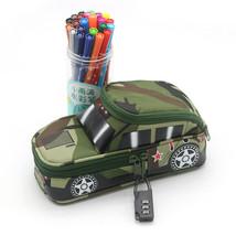 Pencil Case Pen Bag Green Car - $13.99