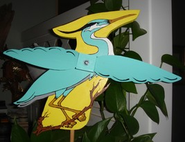 Whirligig, Great Blue Heron. handcrafted,handpainted,wind mobile wind sp... - $58.00