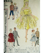 Simplicity 4422 Vintage 60s Clothes for Fashion Doll Barbie  - $16.95