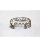 Vintage Silver Tone Cuff Bracelet - $20.00
