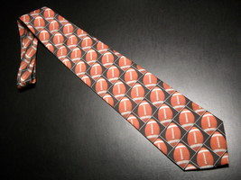 Ralph Marlin Neck Tie Son Of Just Balls Football 1996 Footballs Black Ba... - $10.99