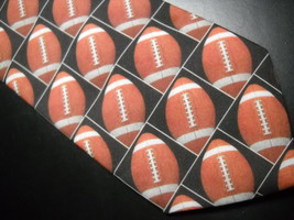 Ralph Marlin Neck Tie Son Of Just Balls Football 1996 Footballs Black Background image 2
