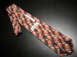 Ralph Marlin Neck Tie Son Of Just Balls Football 1996 Footballs Black Background image 5
