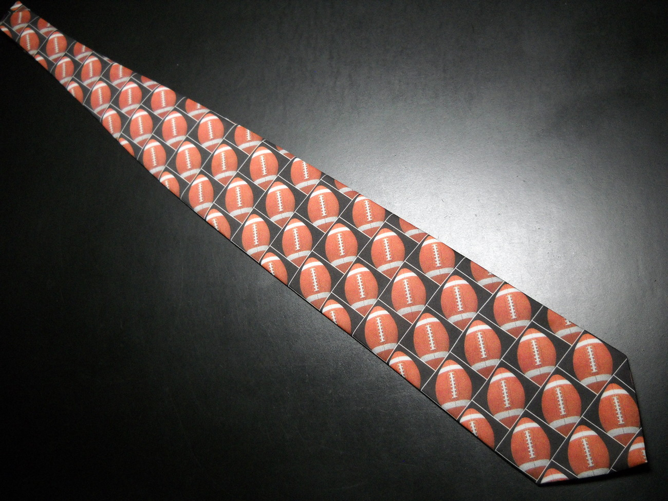 Ralph Marlin Neck Tie Son Of Just Balls Football 1996 Footballs Black Background