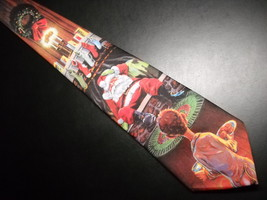 Ralph Marlin Neck Tie Santa's Christmas Eve Surprise 1990 - $11.99