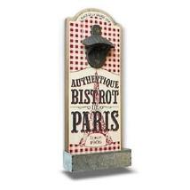 Parisian Wall Mount Bottle Opener Red Cafe of Bistro Paris Vintage Frenc... - $14.50