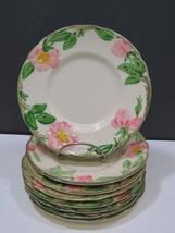 "8 Franciscan Desert Rose Bread Butter Side Plates 6.25"" USA - $33.66"