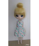 Blythe Dal Byul Handmade Hearts Squared Doll Dress OOAK - $18.97