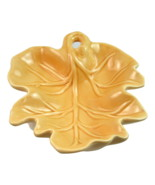 Ceramic 7 inch Autumn oak leaf nut bowl candy dish Thanksgiving fall decor - $14.89