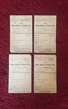 Set of 4: Bank of Rush City Bank Deposit Cards/Mailing Cards (1913)