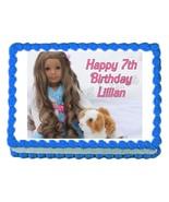 American Girl KANANI edible party cake topper cake image frosting sheet - $7.80
