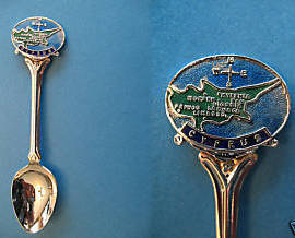 CYPRUS Souvenir Collector Spoon ENAMEL Collectible Mediterranean Island Vintage