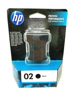 NEW! 1 Sealed Box Genuine Hp Ink Cartridge 02 Black  C8721WN 10/2013 - $12.38