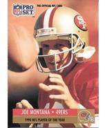 Joe Montana ~ 1991 Pro Set #3 ~ 49ers - $0.05